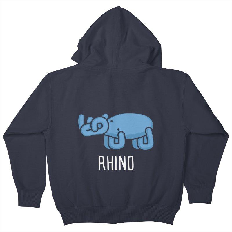 Rhino (Not an Octopus) Kids Zip-Up Hoody by Gyledesigns' Artist Shop