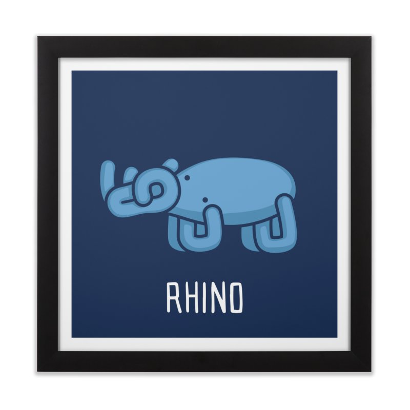 Rhino (Not an Octopus) Home Framed Fine Art Print by Gyledesigns' Artist Shop