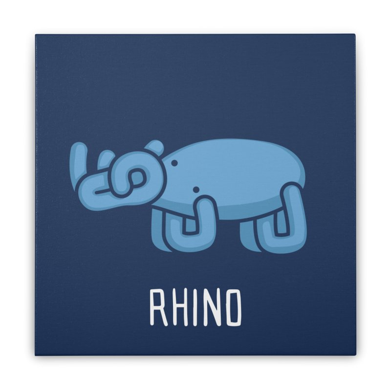Rhino (Not an Octopus) Home Stretched Canvas by Gyledesigns' Artist Shop
