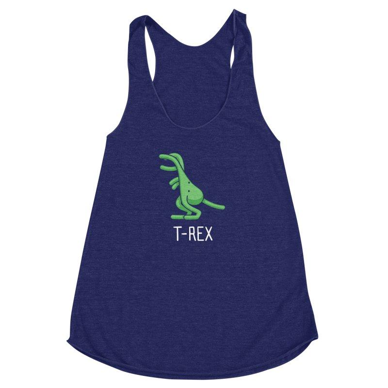 T-Rex (Not an Octopus) Women's Racerback Triblend Tank by Gyledesigns' Artist Shop