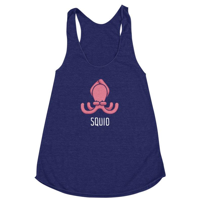 Squid (Not an Octopus) Women's Racerback Triblend Tank by Gyledesigns' Artist Shop
