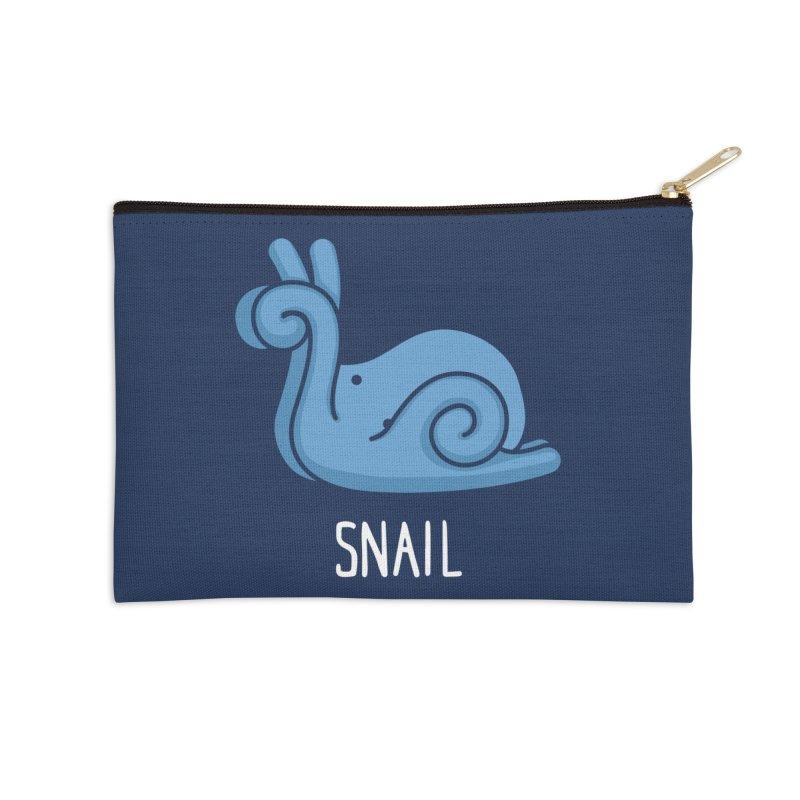 Snail (Not an Octopus) Accessories Zip Pouch by Gyledesigns' Artist Shop