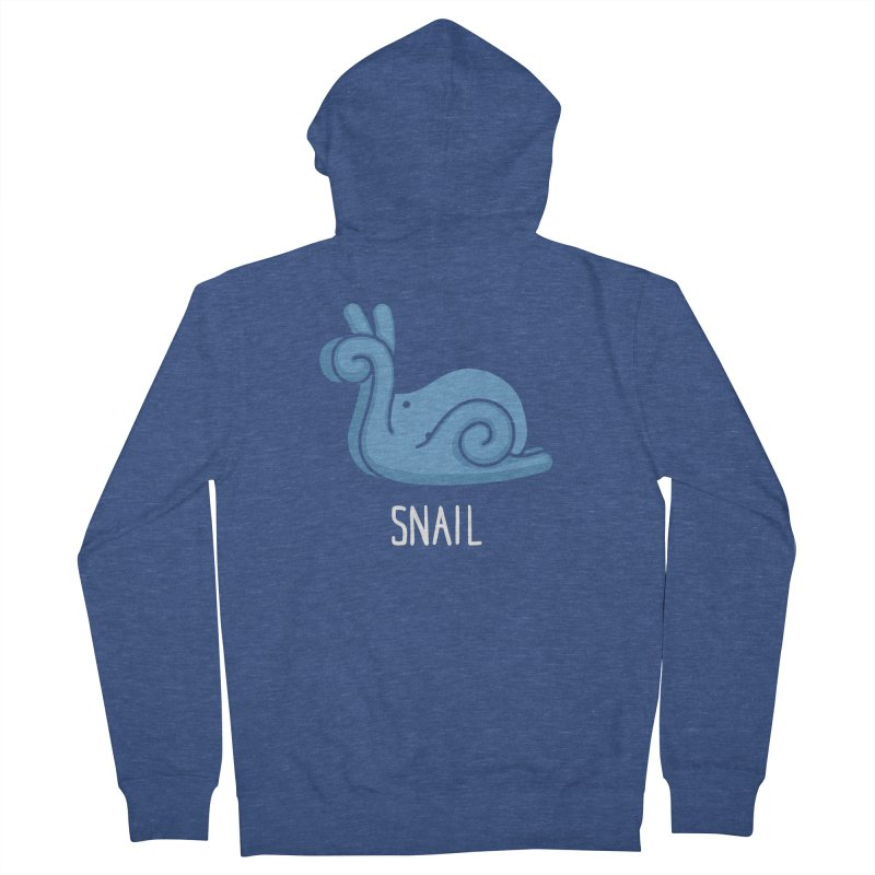 Snail (Not an Octopus) Men's Zip-Up Hoody by Gyledesigns' Artist Shop