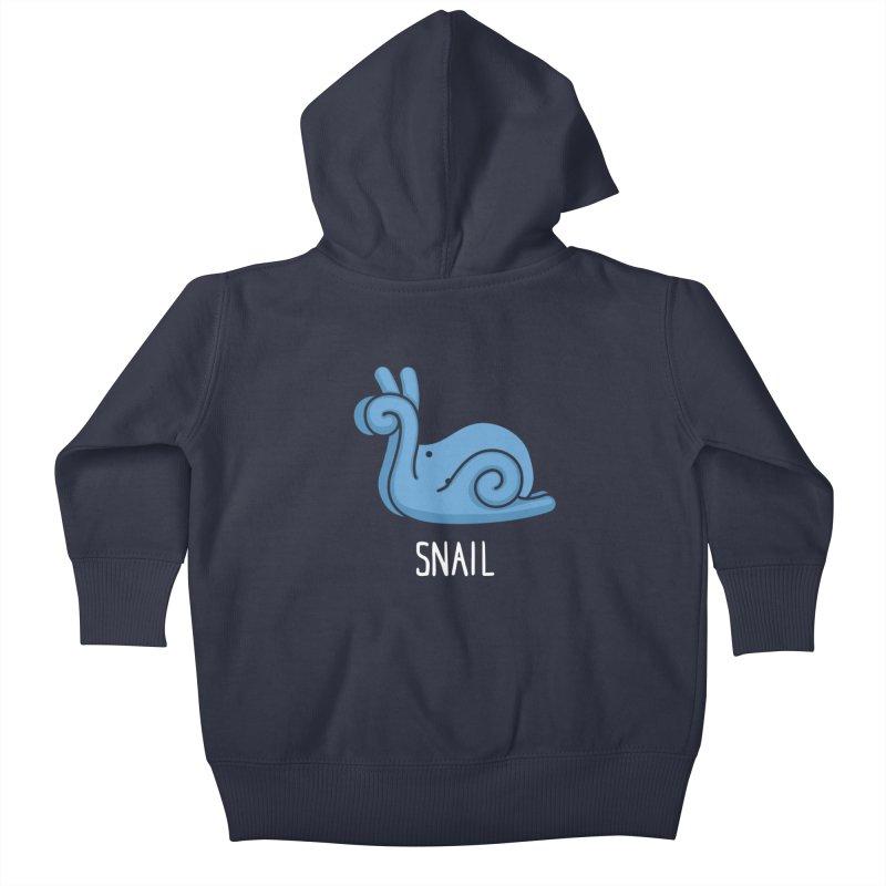 Snail (Not an Octopus) Kids Baby Zip-Up Hoody by Gyledesigns' Artist Shop