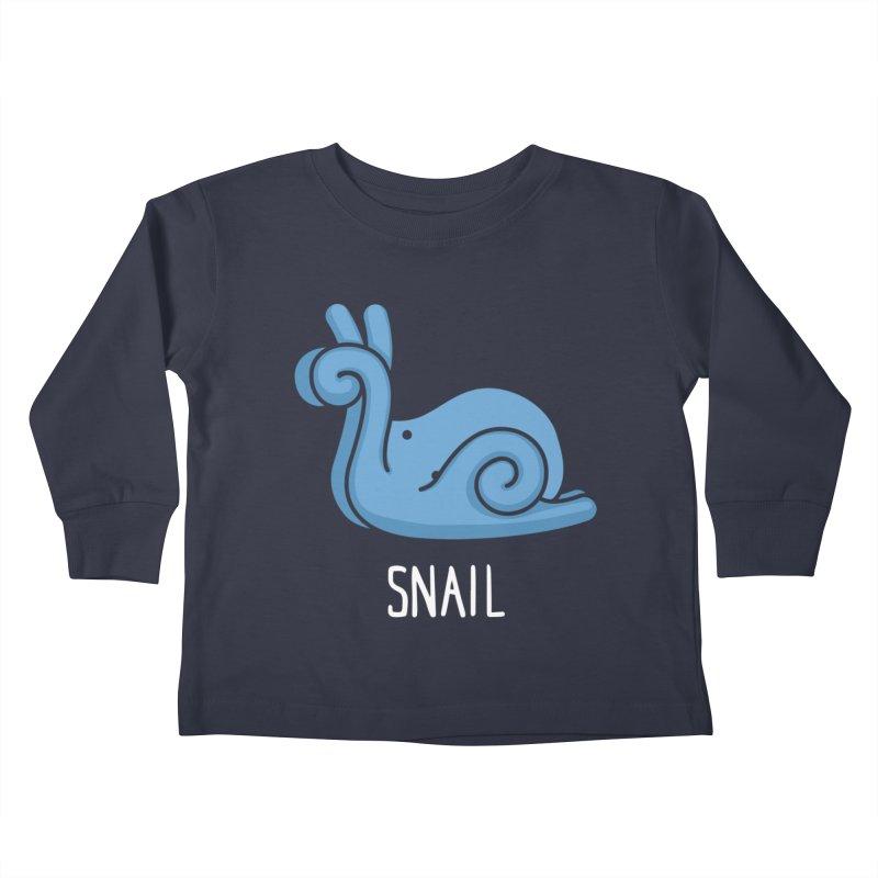 Snail (Not an Octopus) Kids Toddler Longsleeve T-Shirt by Gyledesigns' Artist Shop
