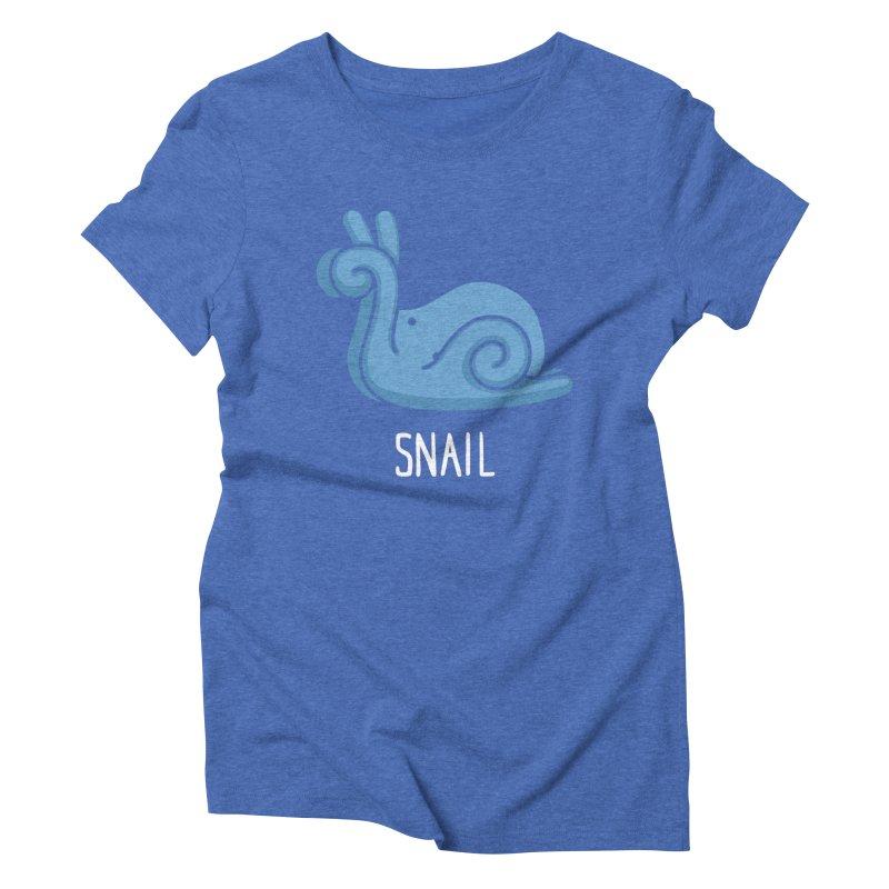 Snail (Not an Octopus) Women's Triblend T-shirt by Gyledesigns' Artist Shop