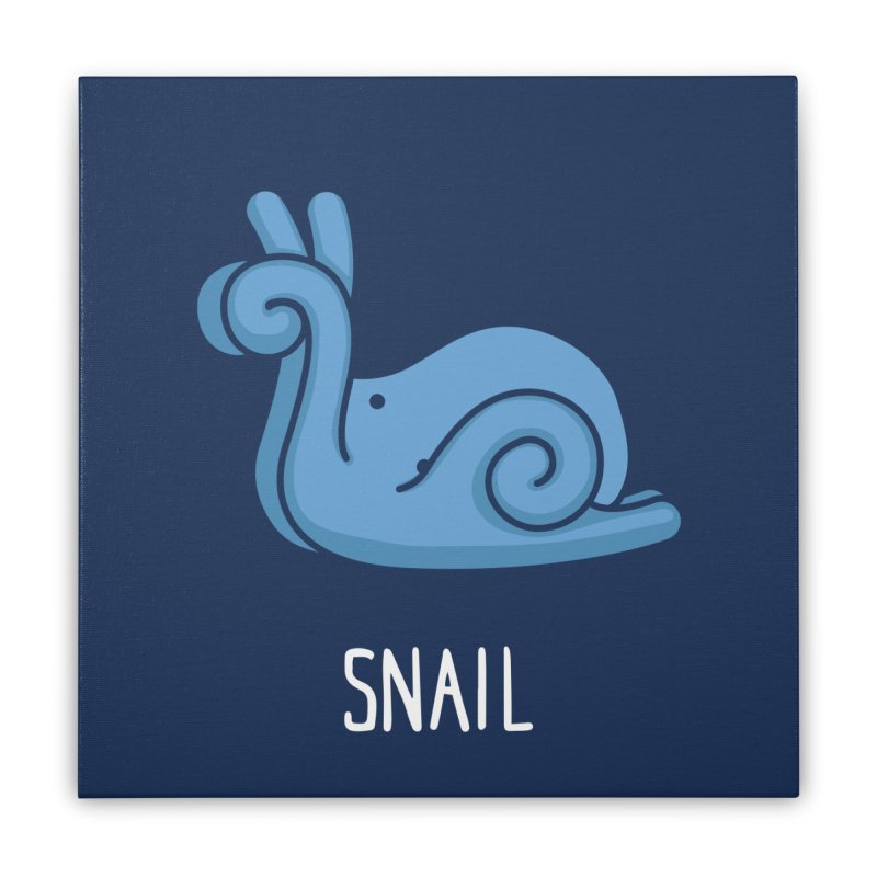 Snail (Not an Octopus) Home Stretched Canvas by Gyledesigns' Artist Shop