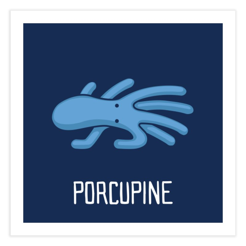 Porcupine (Not an Octopus) Home Fine Art Print by Gyledesigns' Artist Shop
