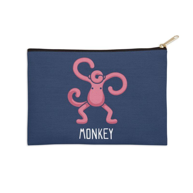 Monkey (Not an Octopus) Accessories Zip Pouch by Gyledesigns' Artist Shop