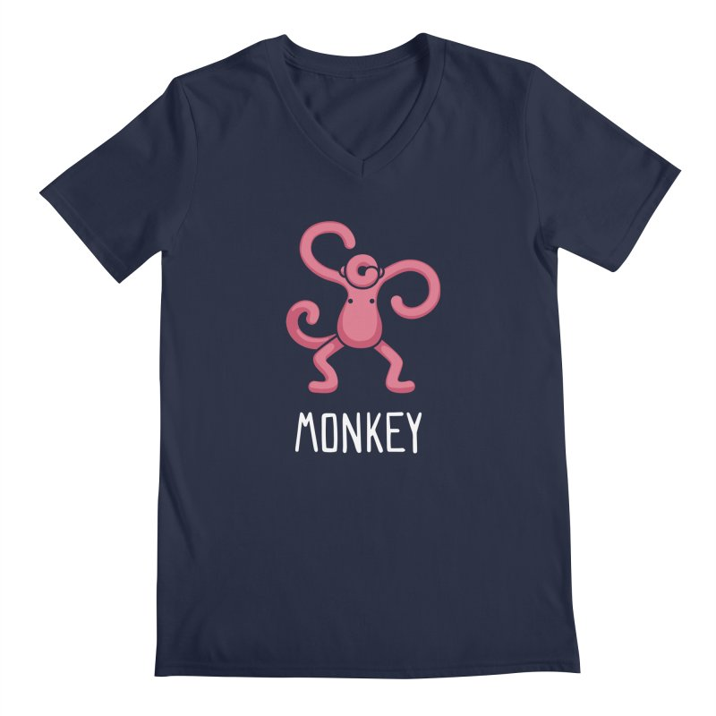 Monkey (Not an Octopus) Men's V-Neck by Gyledesigns' Artist Shop