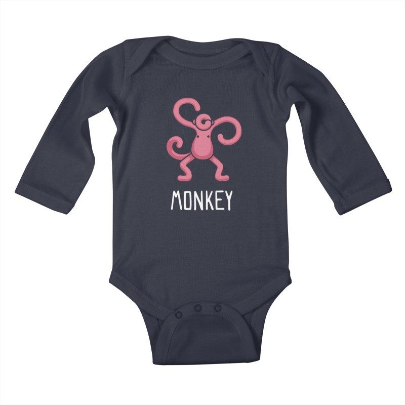 Monkey (Not an Octopus) Kids Baby Longsleeve Bodysuit by Gyledesigns' Artist Shop