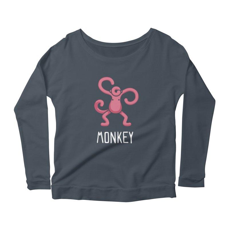 Monkey (Not an Octopus) Women's Longsleeve Scoopneck  by Gyledesigns' Artist Shop