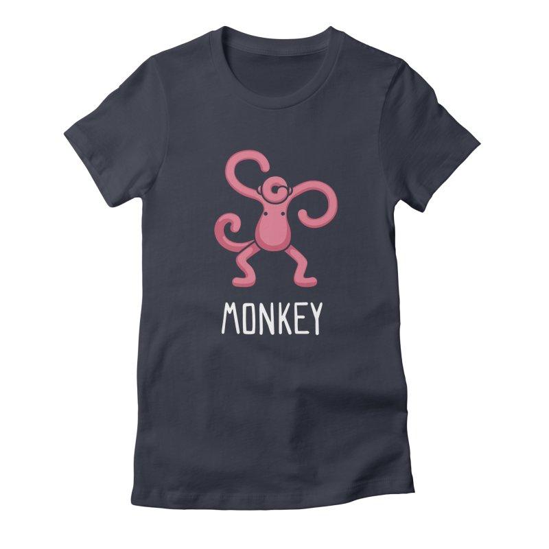 Monkey (Not an Octopus) Women's Fitted T-Shirt by Gyledesigns' Artist Shop