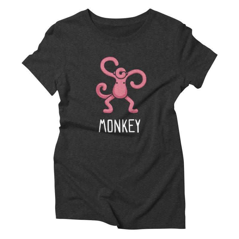 Monkey (Not an Octopus) Women's Triblend T-shirt by Gyledesigns' Artist Shop