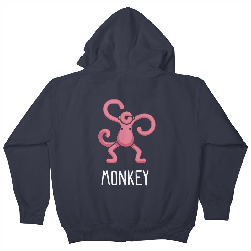 Monkey (Not an Octopus) Kids Zip-Up Hoody by Gyledesigns' Artist Shop