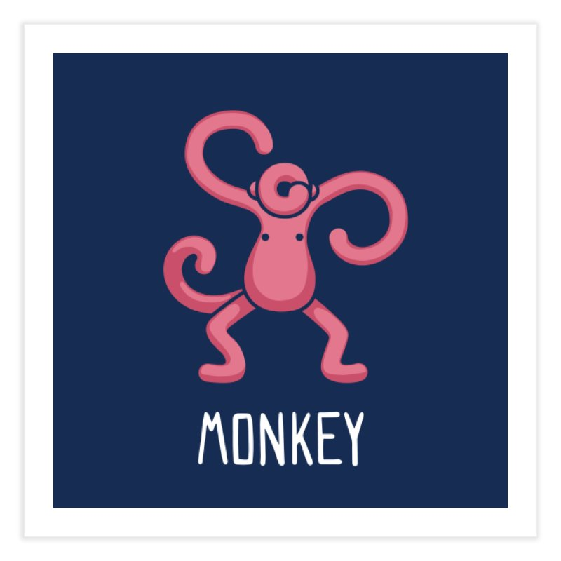 Monkey (Not an Octopus) Home Fine Art Print by Gyledesigns' Artist Shop