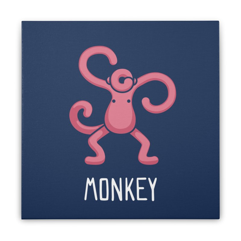 Monkey (Not an Octopus) Home Stretched Canvas by Gyledesigns' Artist Shop
