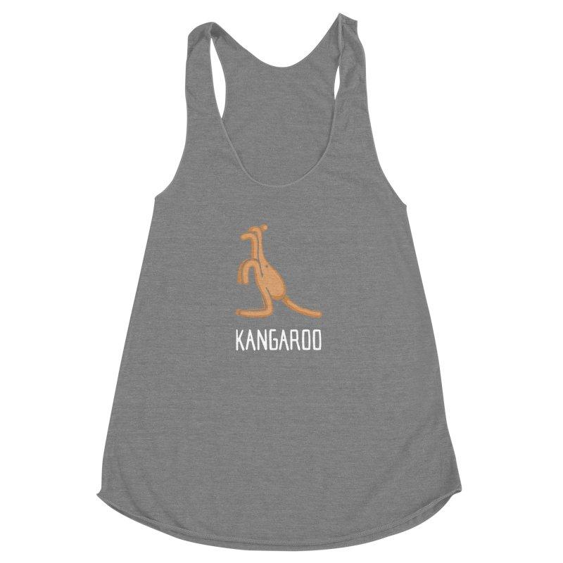 Kangaroo (Not an Octopus) Women's Racerback Triblend Tank by Gyledesigns' Artist Shop