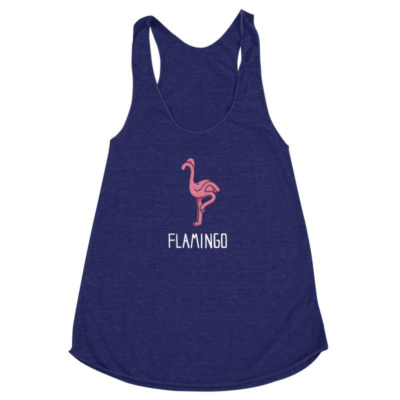 Flamingo (Not an Octopus) Women's Racerback Triblend Tank by Gyledesigns' Artist Shop