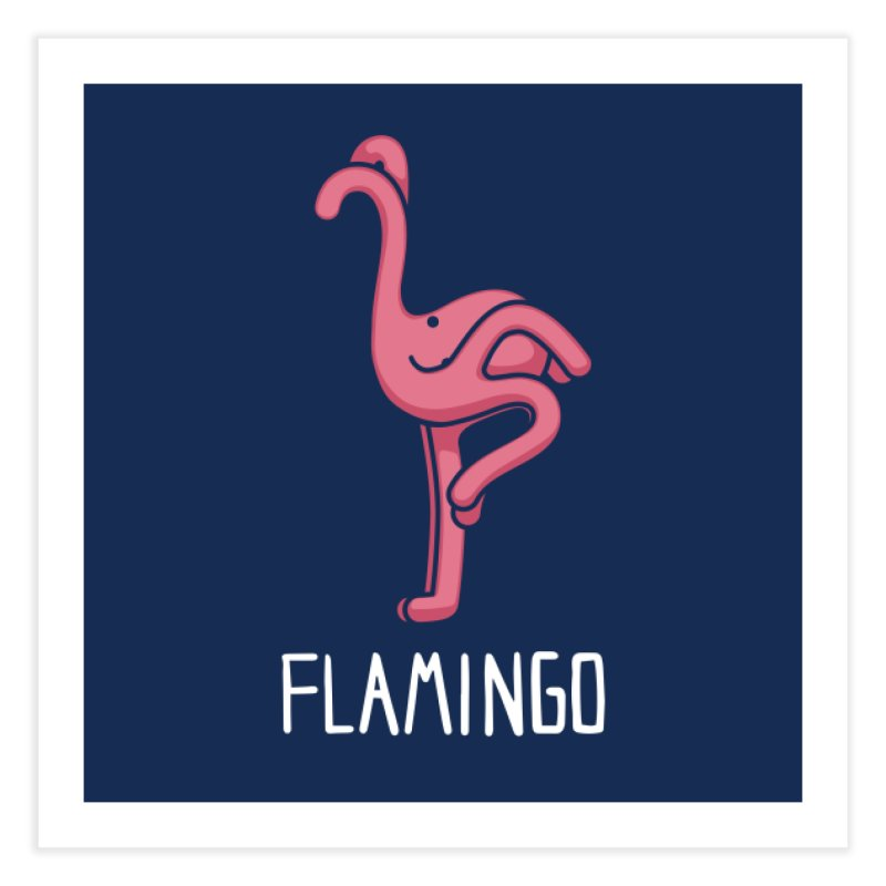 Flamingo (Not an Octopus) Home Fine Art Print by Gyledesigns' Artist Shop