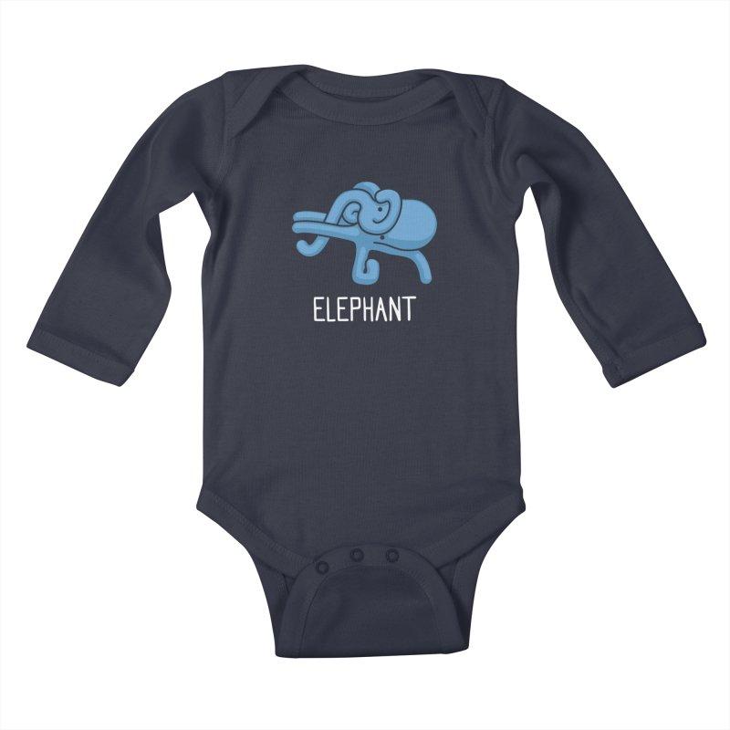Elephant (Not an Octopus) Kids Baby Longsleeve Bodysuit by Gyledesigns' Artist Shop