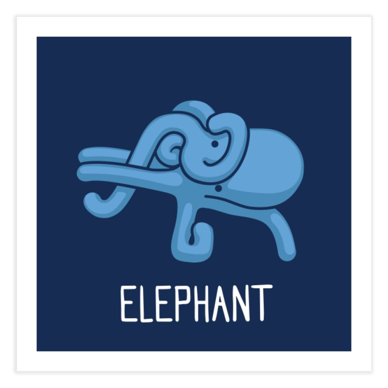 Elephant (Not an Octopus) Home Fine Art Print by Gyledesigns' Artist Shop