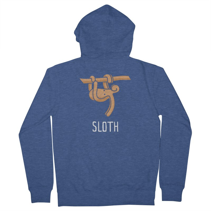 Sloth (Not an Octopus) Men's French Terry Zip-Up Hoody by Gyledesigns' Artist Shop