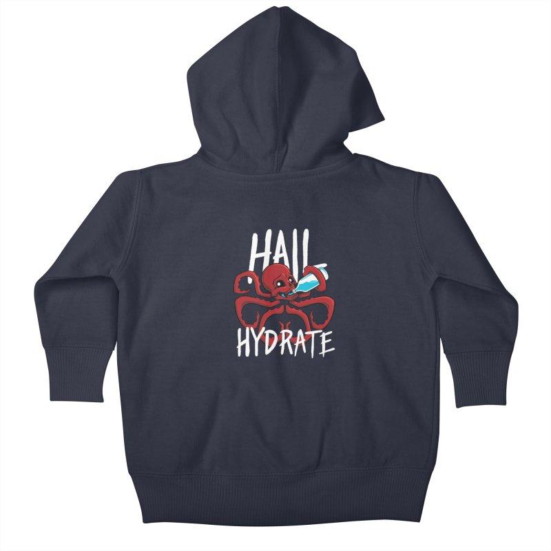 Hail Hydrate! Kids Baby Zip-Up Hoody by Gyledesigns' Artist Shop