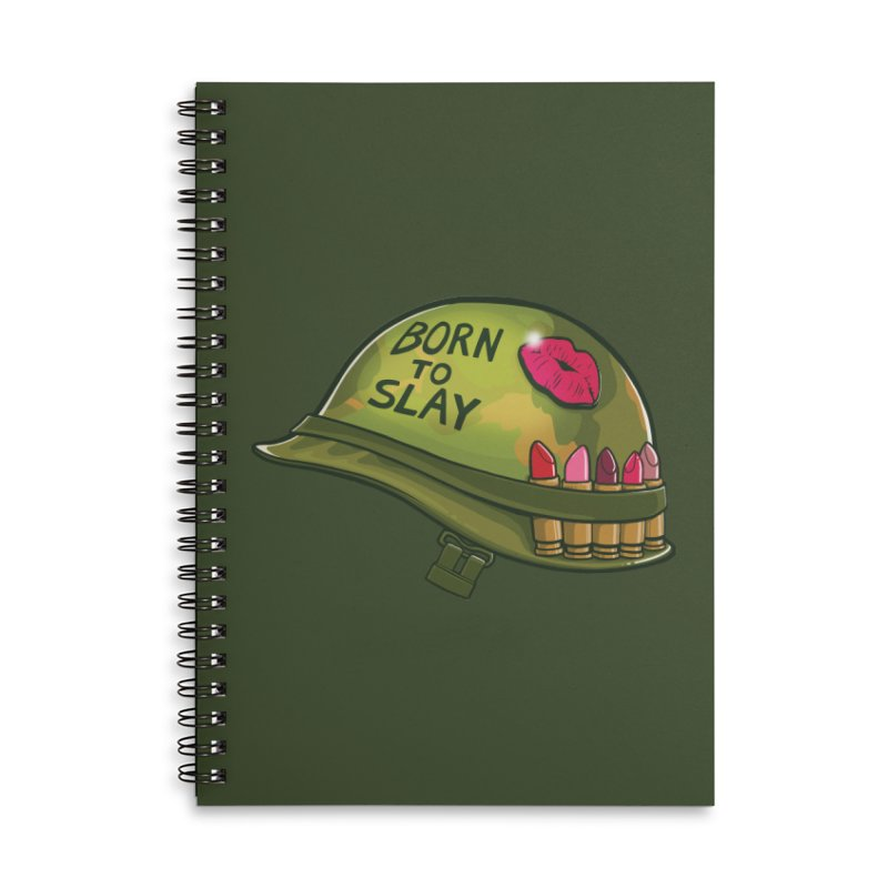 Born to Slay Accessories Lined Spiral Notebook by Gyledesigns' Artist Shop