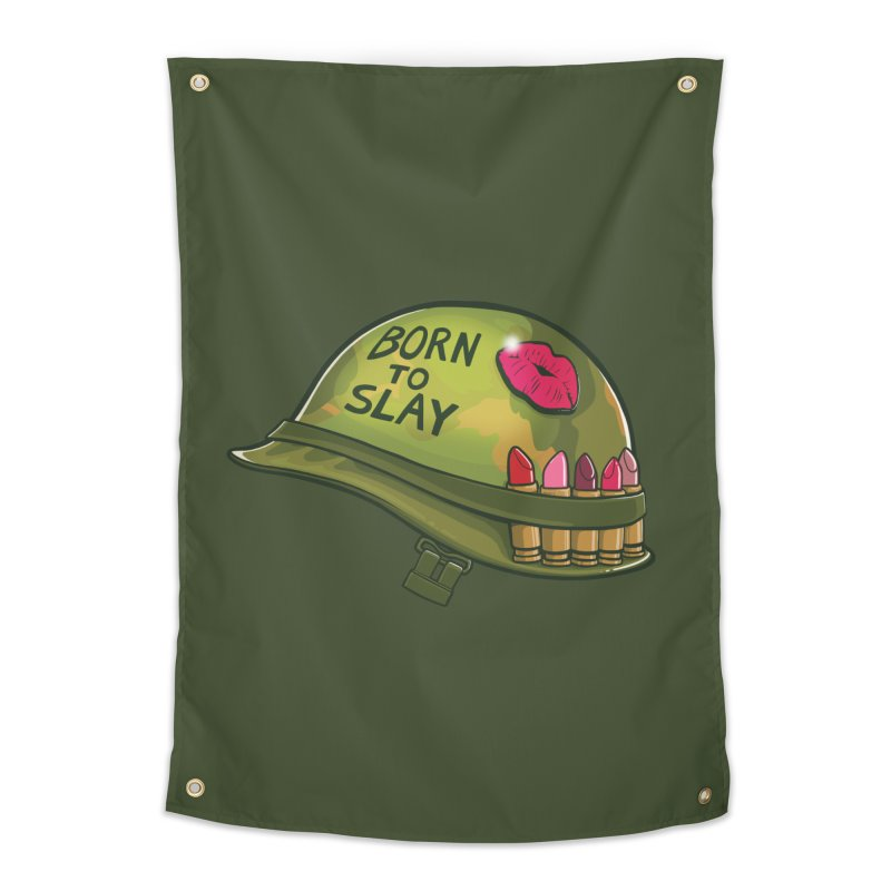 Born to Slay Home Tapestry by Gyledesigns' Artist Shop