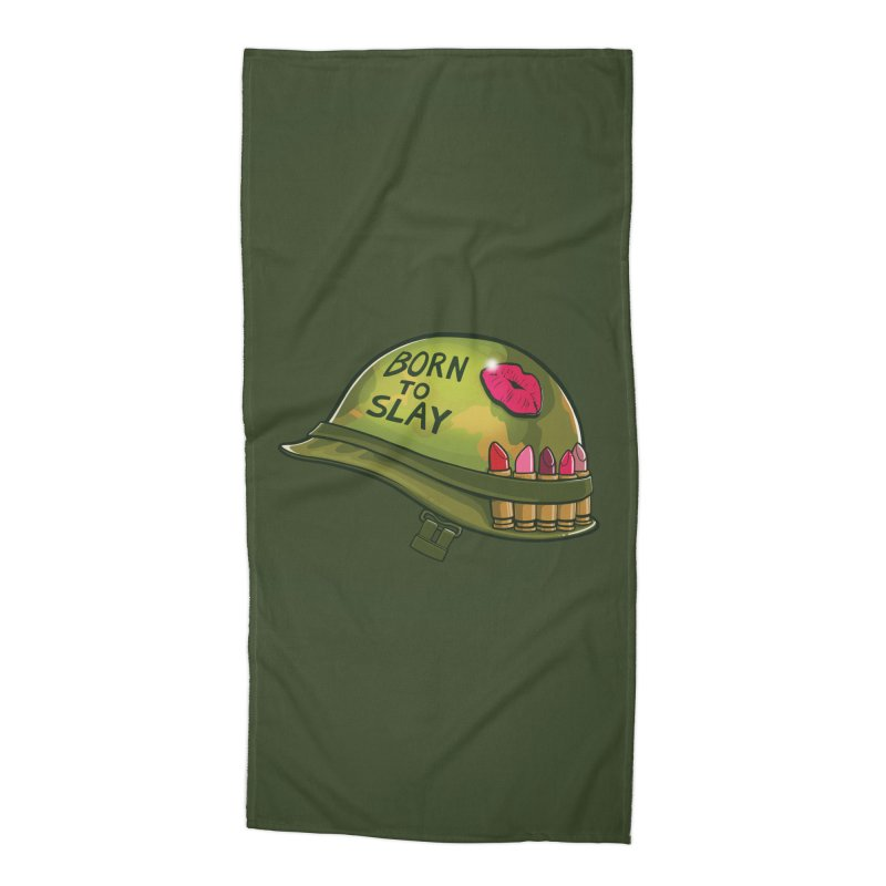 Born to Slay Accessories Beach Towel by Gyledesigns' Artist Shop