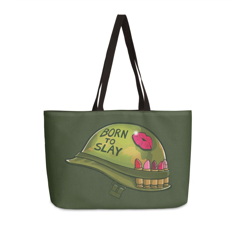 Born to Slay Accessories Weekender Bag Bag by Gyledesigns' Artist Shop