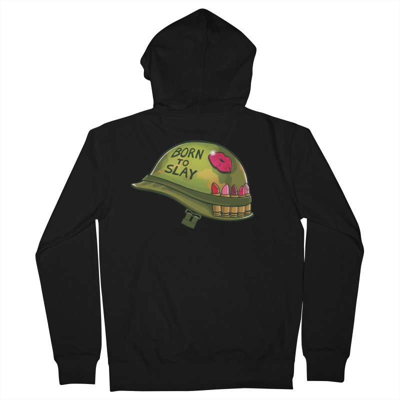Born to Slay Men's French Terry Zip-Up Hoody by Gyledesigns' Artist Shop