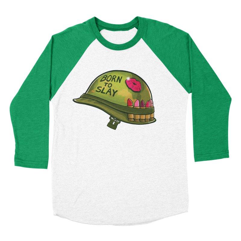 Born to Slay Women's Baseball Triblend Longsleeve T-Shirt by Gyledesigns' Artist Shop