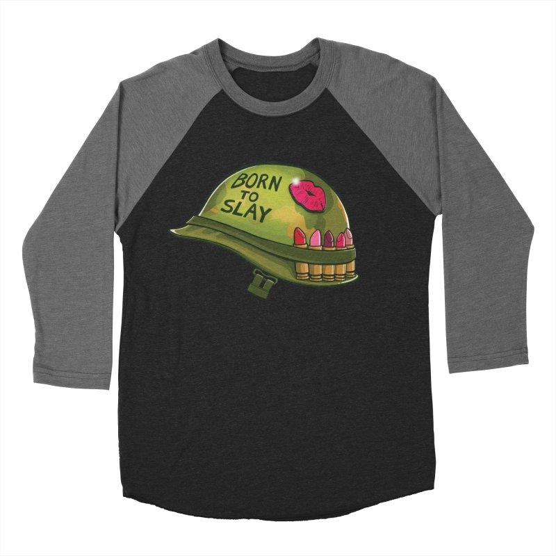 Born to Slay Women's Baseball Triblend T-Shirt by Gyledesigns' Artist Shop