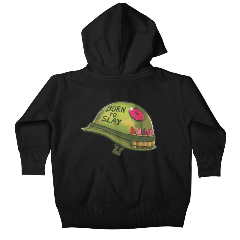 Born to Slay Kids Baby Zip-Up Hoody by Gyledesigns' Artist Shop