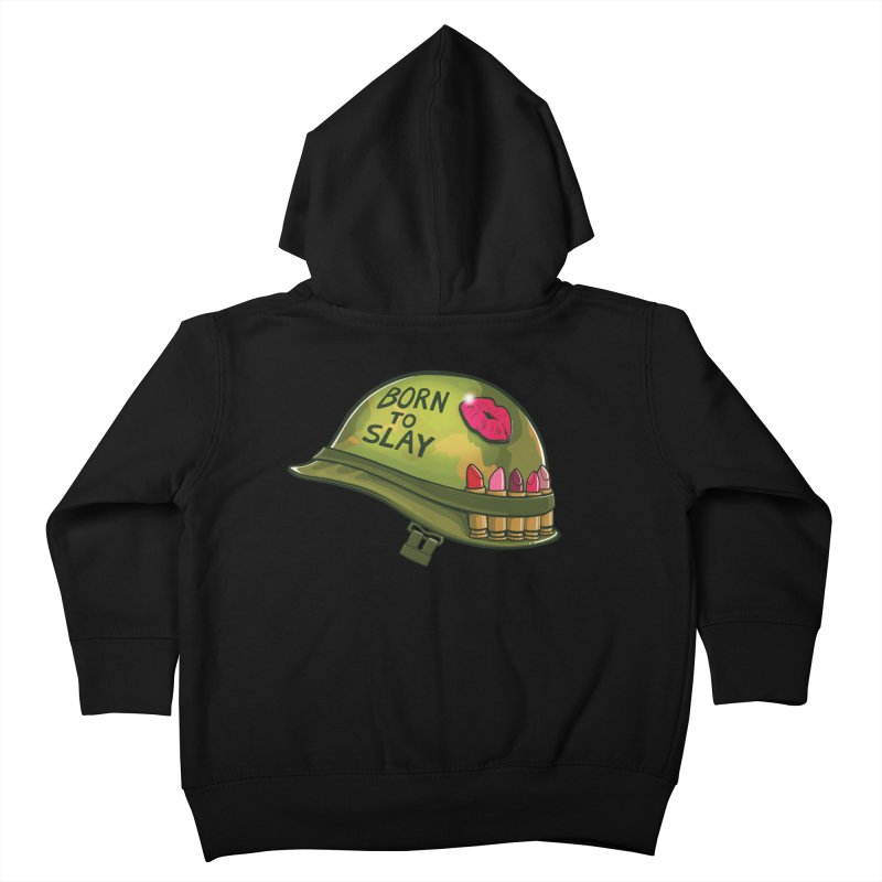 Born to Slay Kids Toddler Zip-Up Hoody by Gyledesigns' Artist Shop