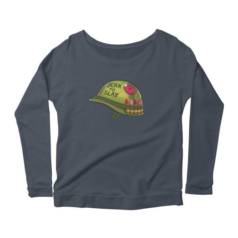 Born to Slay Women's Scoop Neck Longsleeve T-Shirt by Gyledesigns' Artist Shop