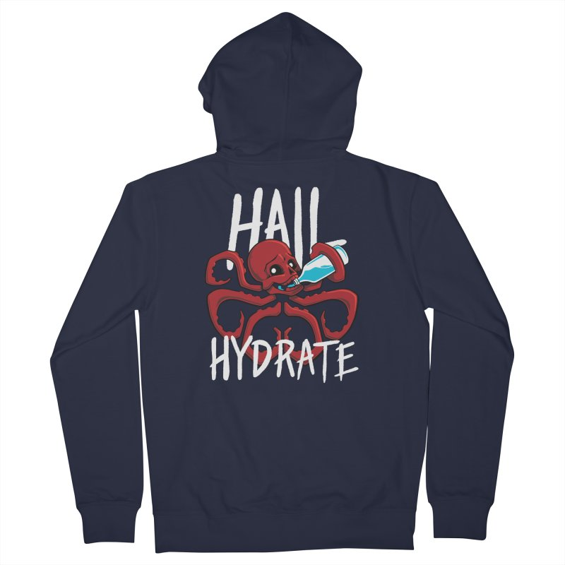 Hail Hydrate Women's French Terry Zip-Up Hoody by Gyledesigns' Artist Shop