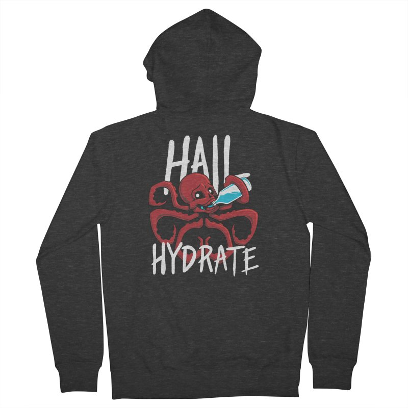 Hail Hydrate Men's French Terry Zip-Up Hoody by Gyledesigns' Artist Shop