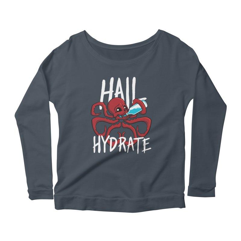Hail Hydrate Women's Scoop Neck Longsleeve T-Shirt by Gyledesigns' Artist Shop