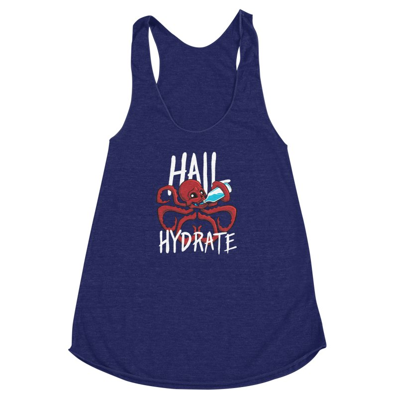Hail Hydrate Women's Racerback Triblend Tank by Gyledesigns' Artist Shop
