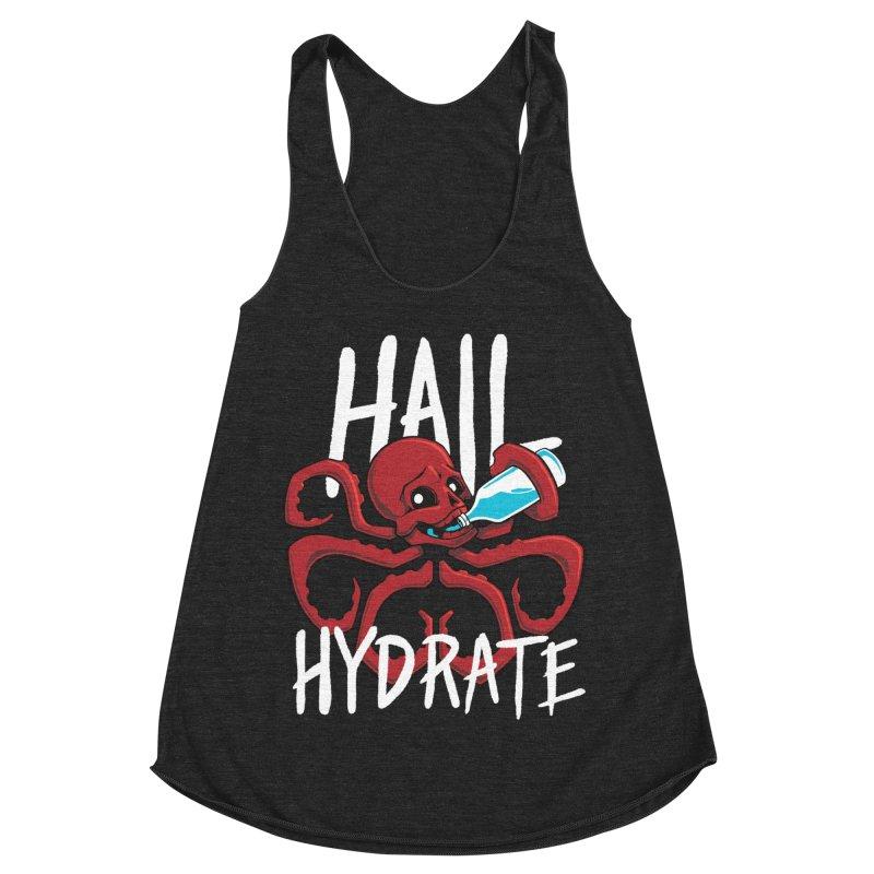 Hail Hydrate Women's Racerback Triblend Tank by Gyledesigns' Artist Shop