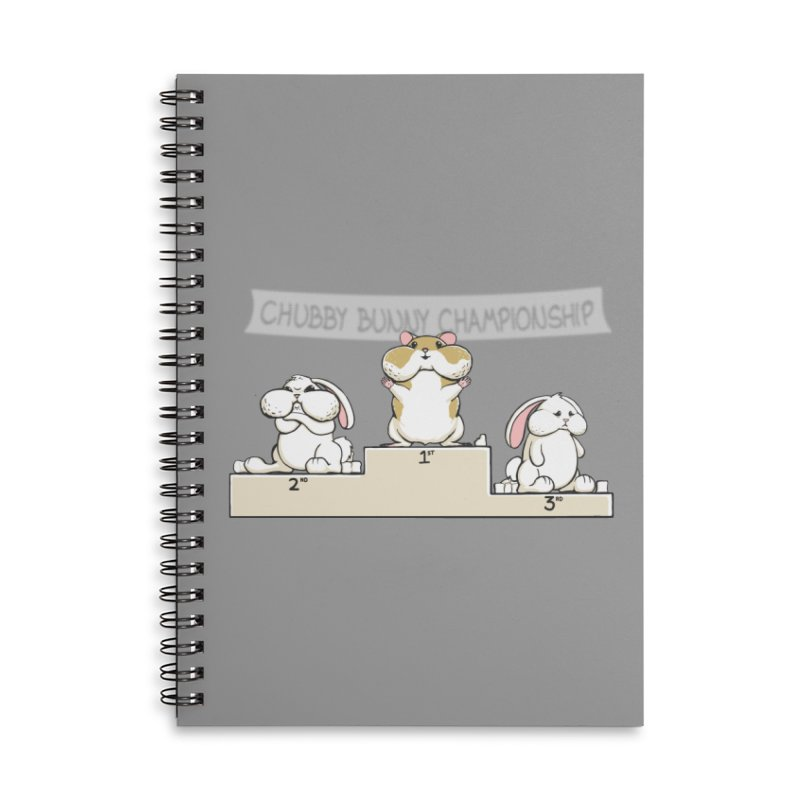 Chubby Bunny Accessories Lined Spiral Notebook by Gyledesigns' Artist Shop