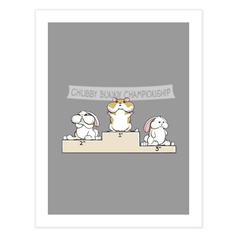 Chubby Bunny Home Fine Art Print by Gyledesigns' Artist Shop