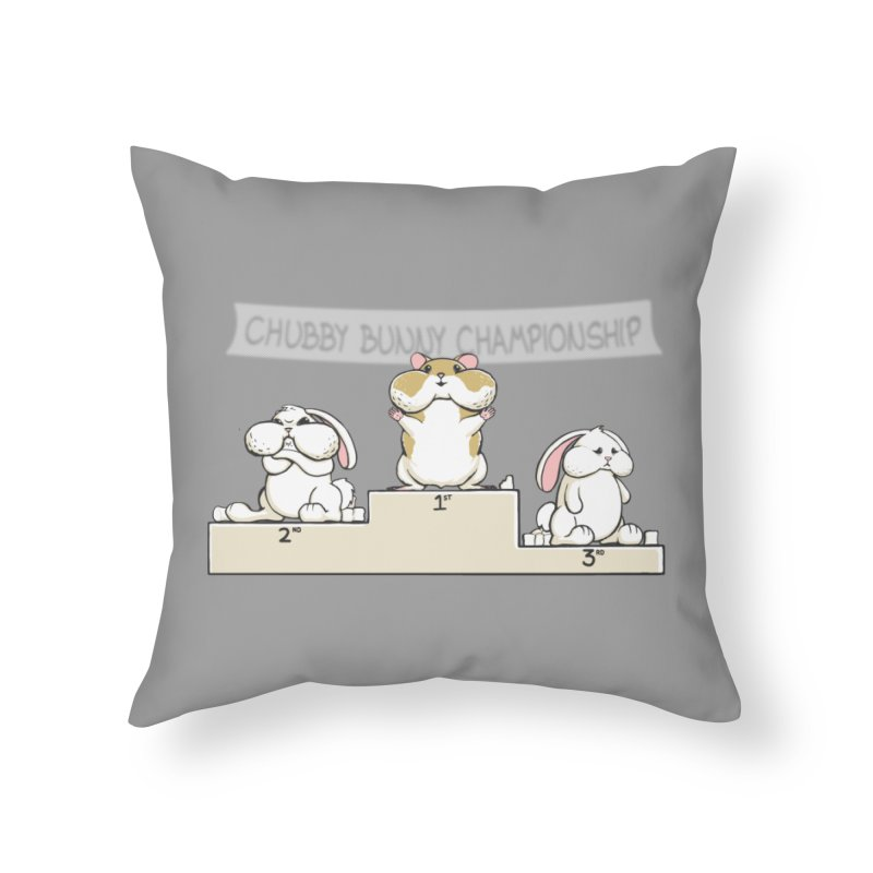 Chubby Bunny Home Throw Pillow by Gyledesigns' Artist Shop