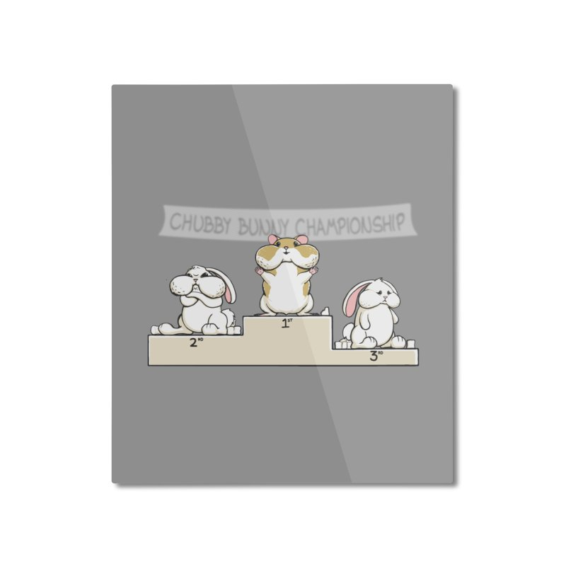 Chubby Bunny Home Mounted Aluminum Print by Gyledesigns' Artist Shop