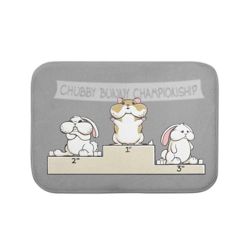 Chubby Bunny Home Bath Mat by Gyledesigns' Artist Shop