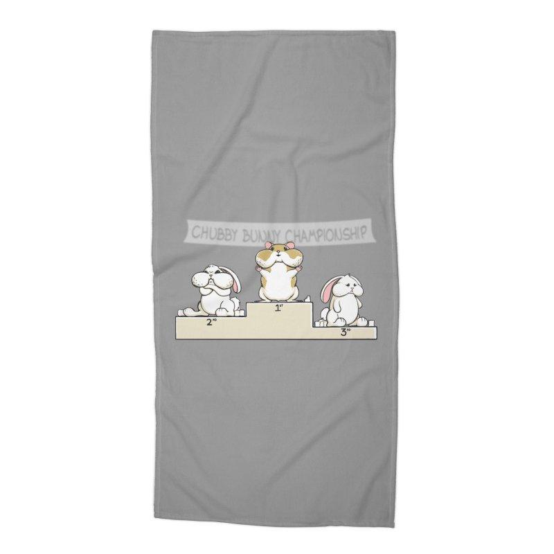 Chubby Bunny Accessories Beach Towel by Gyledesigns' Artist Shop