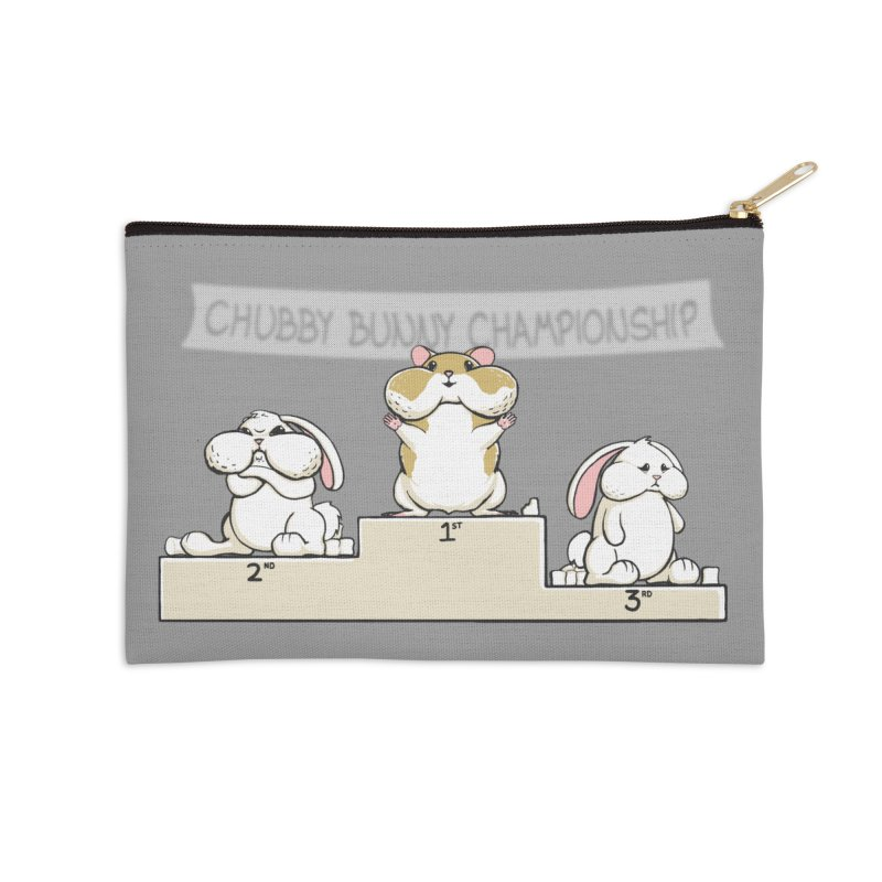 Chubby Bunny Accessories Zip Pouch by Gyledesigns' Artist Shop